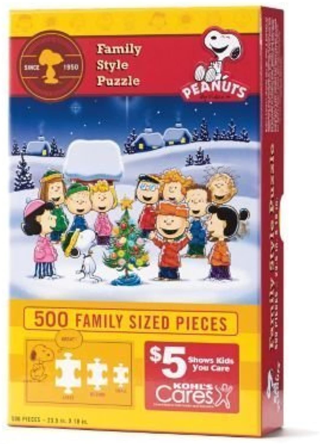 Kohl's Cares Peanuts 500pc.Family StyleJigsaw Puzzle by KCK
