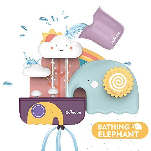 SYOSIN Badespielzeug,Badewannenspielzeug mit Tasse für Babys, wasserspielzeug Dusche Badewannenspielzeug Für Kinder Junge und Mädchen ab 6 Monate+