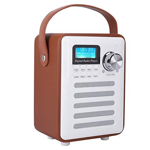 Sutinna Receptor de Radio Digital portátil Dab/Dab + FM, Radio de Madera Retro al Aire Libre Interior Bluetooth Altavoz estéreo inalámbrico Radio por Internet