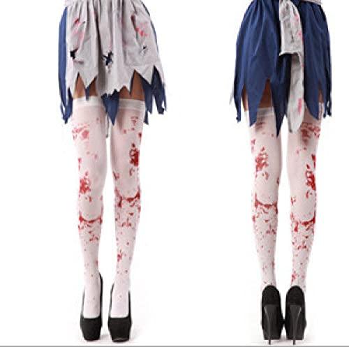 NIHY Halloween sangrienta medias de miedo sangre calcetines horror zombie fantasma accesorios accesorios accesorios 3 piezas
