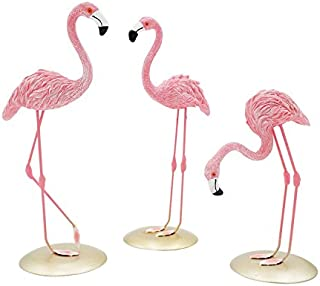 Yaeer Pink Flamingo Sculpture Table Decor Desk Decoration Art Home Ornaments, Gifts for Friends, Party Wedding Decoration(...