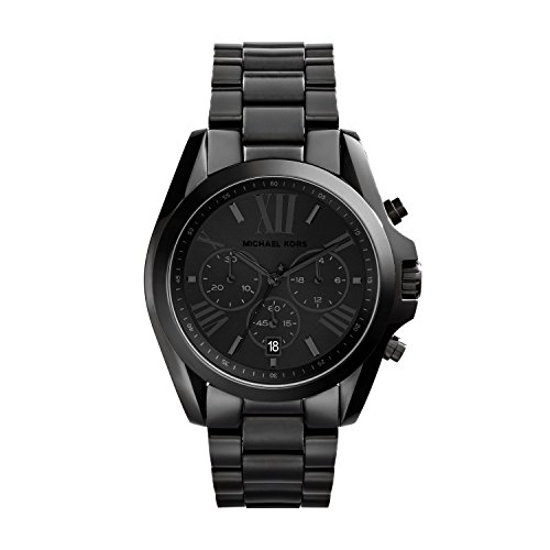 Michael Kors Women's Bradshaw Quartz Watch with Stainless-Steel Strap, Black, 20 (Model: MK5550)