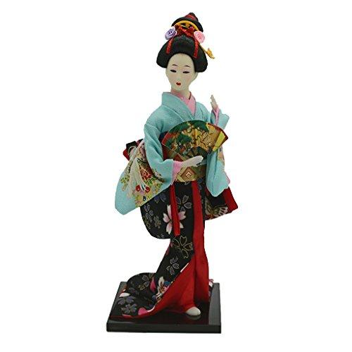 D DOLITY 12'' japanische Kimono Geisha / Koreanische Geisha / Japanischen Samurai Figur Puppe - Handgemachte Sammlung Spielfigur Dekofigur Sammfigur - Japanische Geisha -1
