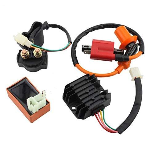Falliback Gleichrichtersatz, 5 Teile/Satz Zündspule Gleichrichterrelais Zündkerze CDI Gleichrichter, Für 150ccm 200ccm 250ccm ATV Quad