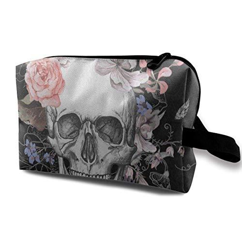 Reise-Kosmetiktaschen Tag der Toten Zuckerschädel Kühle Aufbewahrungstasche Make-up-Etui Kulturtasche Oxford Tragbare Make-up-Clutch-Tasche