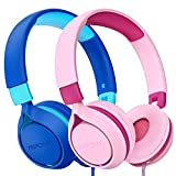 Kinder Kopfhörer,Mpow CH E1 kopfhörer Kinder,Kabelkopfhörer für Jugendliche mit Lautstärkebegrenzung,Faltbare einstellbare,für Schule,Reise,Kompatibel mit Handys,Tablets,PC…