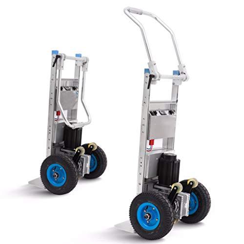 XH-Tool Carro eléctrico Plegable para Muebles, Carro portátil para Subir escaleras, Carretilla de Mano de Servicio Pesado con 2 Ruedas, Motor de CC sin escobillas y batería eléctrica