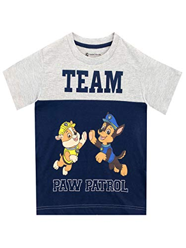 Paw Patrol Camiseta de Manga Corta para niños La Patrulla C