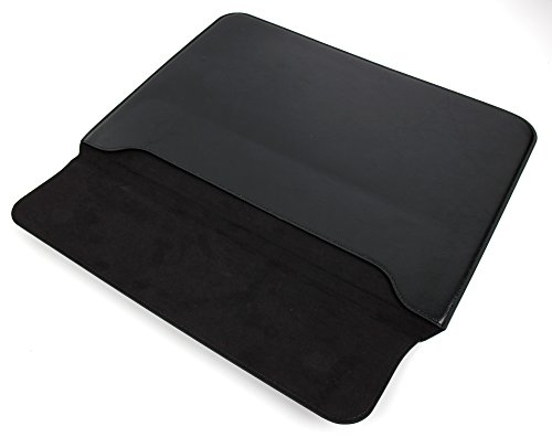 DURAGADGET Lightweight Black PU Leather Envelope-Style Pouch Case - Compatible with Acer Iconia W700