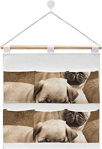 Bolsas de almacenamiento de lino y algodón para colgar en la pared, con flores moradas en una olla de hierro, para la puerta, para sala de estar, dormitorio, baño, estilo blanco9