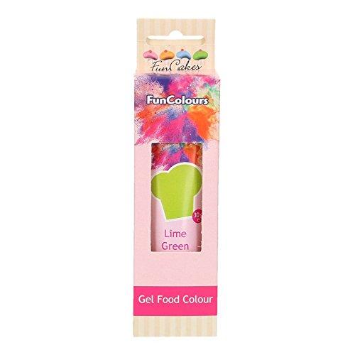 FunCakes FunColours Colorante en Gel Superconcentrado Comestible Insaboro para todo tipo de Cremas y Masas Color Lime Green, Verde Lima 30g FC50120