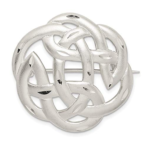 925 Sterling Silver Finish Irish Claddagh Celtic Knot Pin Fine Jewelry For Women Gifts For Her