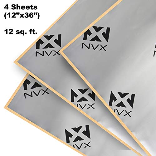 NVX SDDK12 12 Square Feet of Sound Dampening Material 4-Door Kit - Four 12