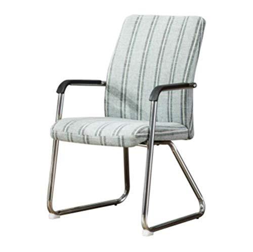 Nileco Modern Eetkamerstoel, bureaustoel met kunstleer gevoerde stoel Mute Seat Achterkant stoelen voor eetkamer, keuken, woonkamer