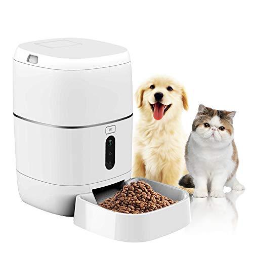 SEEDARY Comederos Automáticos Alimentador Automático para Mascota con WiFi, Capacidad de 6 Litros 1-6 Comidas por Día Dispensador...