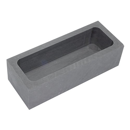 純黒鉛るつぼ 角型 石墨坩堝 鋳造インゴット 鋳型るつぼ シルバーゴールド溶融 金銀銅融解用 (180x70x50mm)