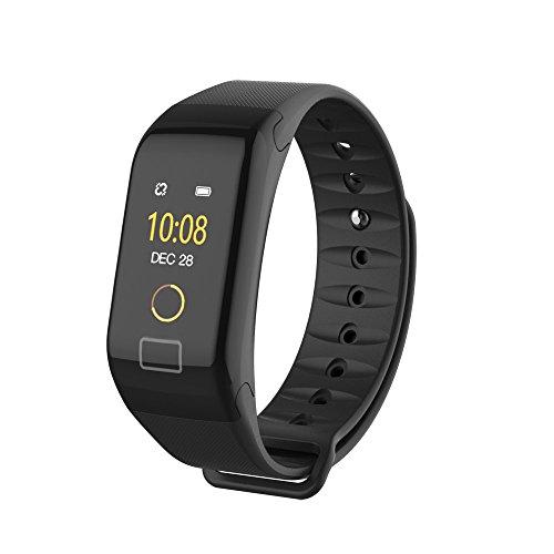 Smartwatch da Donna per Uomo F1 Schermo a Colori Colore Fitness Blood Pressure Ossigeno Cardiofrequenzimetro Smart Watch Bracciale con Schermo OLED iOS e Android By WUDUBE