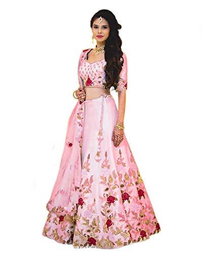 Skyview Fashion Bollywood Wedding Ethnic Dress Heavy Bridal Lengha Indian Wear Designer Party Lehenga Choli (Babypink)