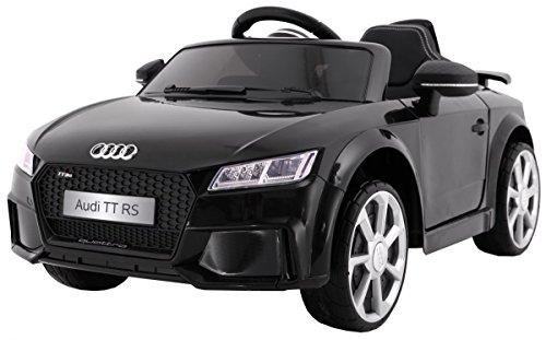 BSD Elektro Kinderauto Elektrisch Ride On Kinderfahrzeug Elektroauto Fernbedienung - Quatro TT RS 2.4 GHz - Schwarz