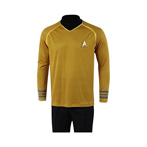 Jeylu Star Trek Captain-Kirk-Kostüm/Uniform, Gelb Gr. XXXL, gelb
