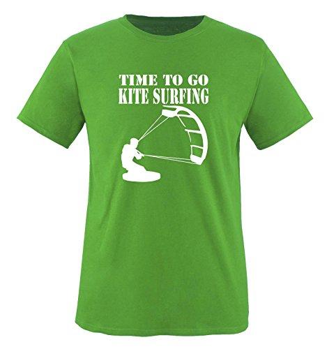 Funshirts-Company Time to Go Kite Surfing – T-Shirt pour Enfant Taille 86 à 164 Plusieurs Coloris - - XL