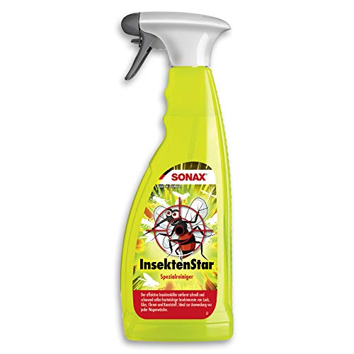 SONAX InsektenStar (750 ml) entfernt schnell und schonend selbst hartnäckige und angetrocknete Insektenverschmutzungen | Art-Nr. 02334000