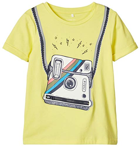 Name It T-Shirt Appareil Photo Top bébé vêtements bébé, Jaune