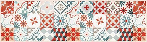 Tape Design KU-NA1487-180 Passatoia, Microfibra di Ciniglia di Poliestere, Multicolore-Marrone, 52X180