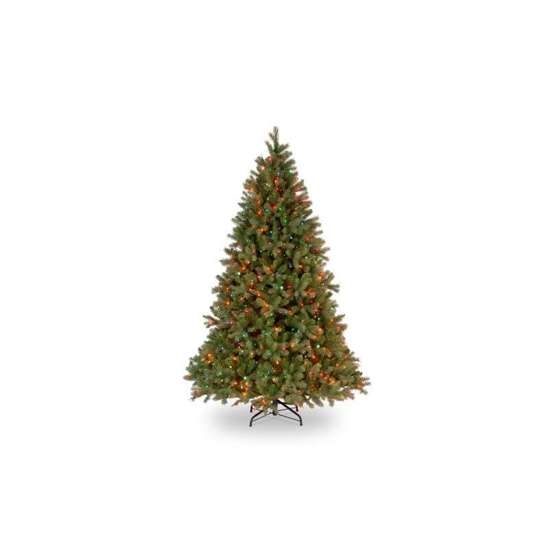 silk flower arrangements national tree company 'feel real lit artificial christmas tree, downswept douglas fir – 6.5 ft includes pre-strung multicolor lights, feet, green