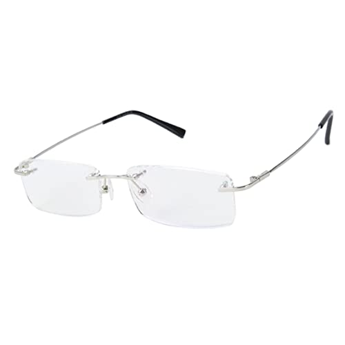 c9635670ad Agstum Titanium Alloy Flexible Rimless Frame Prescription Eyeglasses  Computer Glasses
