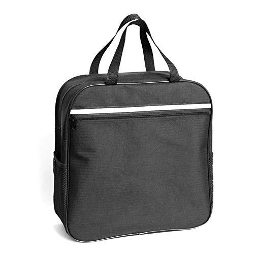 Ajboy Mehrzweck-Handtasche, tragbare Reisetasche, Rollstuhl-Seitentasche, Armlehnen-Tasche, Schwarz, 37 * 37 * 14cm