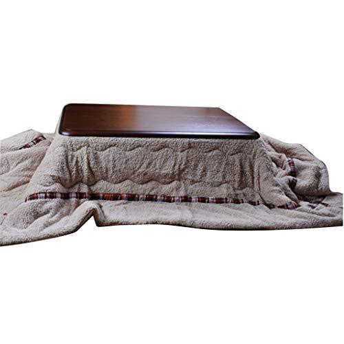 Kotatsu for El Hogar Mesa Calefactora Japonesa Multifuncional Sala De Estar Dormitorio Almacenamiento Plegable De Invierno Mesa Calefactora Eléctrica Mesa De Centro (Color : Brown, Size : 75 * 75cm)