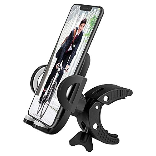 ESKUTE Soporte Movil Bicicleta, Soporte Manillar de Bicicleta y Motocicleta,360° Rotación, Antivibración, Pantalla Completa Visible, Compatible con iPhone 12/Pro/12 Mini/11 Pro MAX y 4.5