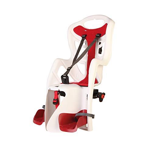 Bellelli Seggiolino Posteriore Bicicletta PEPE (fino a 22 kg) Standard MultiFix Per Telaio Bicicletta, bianco