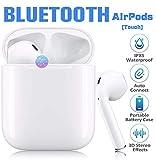 Cuffie Bluetooth Senza Fili, Auricolari wireless con 24 Ore Scatola di Ricarica Stereo 3D HD Microfoni, Touch Control per Samsung/iPhone/Huawei/Apple O Airpods/Andriod