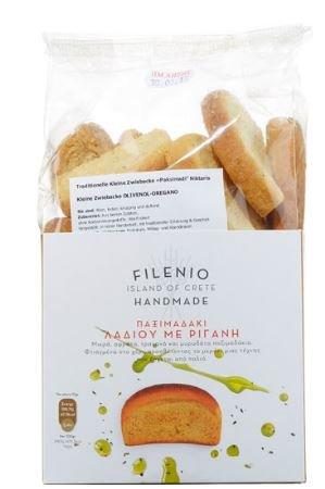 Paximadaki Olivenöl Oregano 350g - griechischer Zwieback - griechisches Gebäck handgemacht - Paximadi Snack Brot Dakos von Niktaris aus Kreta Griechenland