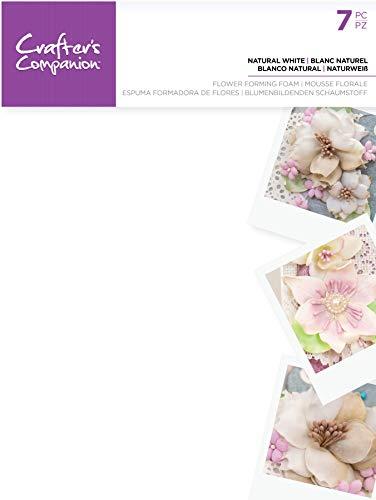 Crafter's Companion CC-FOAMFL-WHI Schiuma per fiori-Bianco naturale (7 pezzi), Taglia unica