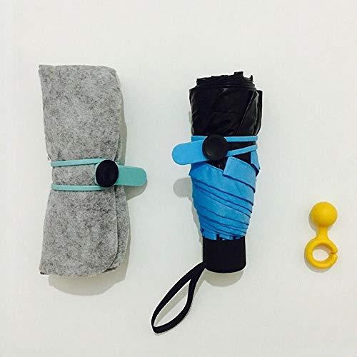 Kapsel Regenschirm Sonnenschirm Regenschirm Faltbarer Mini Regenschirm Regenschirm Studentin Koreanische Version des kleinen fünffachen Regenschirm Business Ten Bone Schwarz, fünffaches Tuch Set Maca