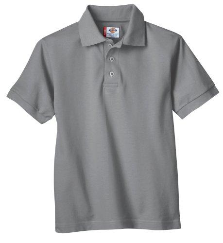 Dickies - - KS4552 Kinder Größe Kurzarm Pique Polo Shirt, Medium, Heather Gray
