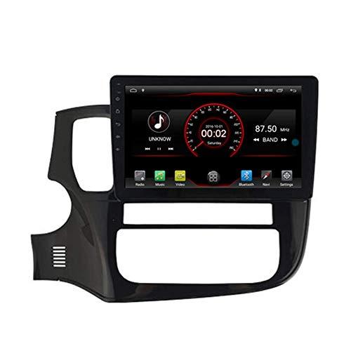 BWHTY Android 10 Car DVD Player GPS Stereo Head Unit Navi Radio Multimedia WiFi para Mitsubishi Outlander XL 2013 2014 2015 2016 2017 2018 Control del Volante