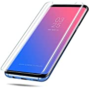 2 Pack Galaxy S8 Glass Screen Protector,[Case Friendly] [Updated Version] Screen Protector HD Glass Screen Protector Compatible Withe Samsung Galaxy S8 Clear