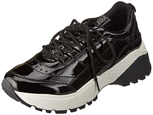 s.Oliver Damen 5-5-23643-33 Sneaker, Schwarz (Black Patent 018), 42 EU