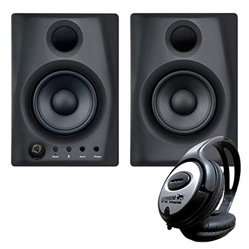 Monkey Banana Gibbon AIR Studio-Monitor-Boxen Schwarz + keepdrum Kopfhörer