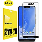 [2 Pack] for Google Pixel 3 XL Tempered Glass Screen Protector,Hatshort[Full Coverage][9H Hardness][Bubble-Free][Anti-Scratch] Tempered Glass Screen Protector for Pixel 3XL