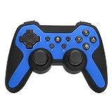 Mando de Juegos inalámbrico Bluetooth Somatosensorial Gamepad Joystick de vibración Dual para PC TV Box Controller(Azul)