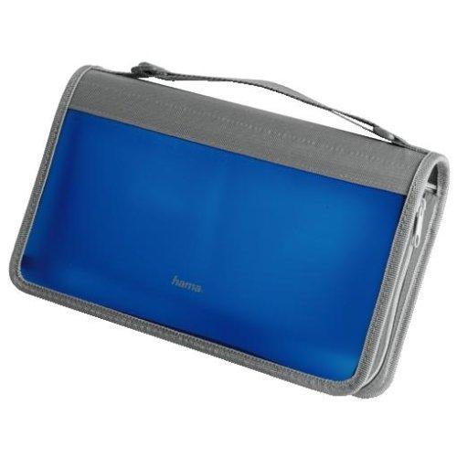 Hama CD-Wallet 96, Blau/Silber