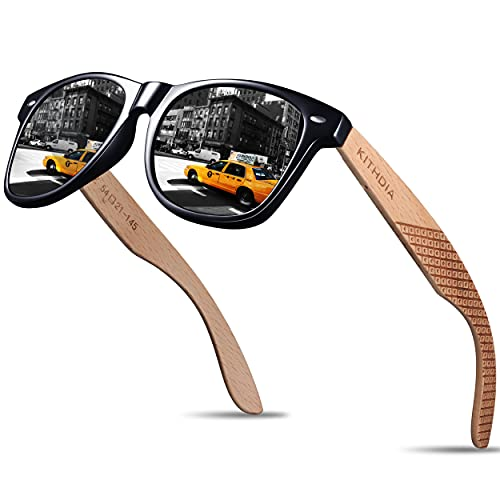 $4.49 Men's Bamboo Wood Sunglasses Clip the extra $5 off coupon and use promo code: 50A26VJH Works on all options