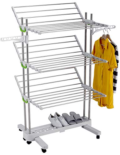 MYLL - Tendedero para ropa, vertical y plegable