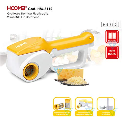 Hoomei Grattugia elettrica per formaggio HM-6112 scaglie cioccolato frutta secca