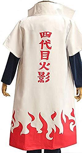 Linen Family Erwachsene Japanische Anime Umhang Mantel Kurzarm mit Stehkragen Rollenspiel Kleidung Unisex Cosplay Kostüm Weiß